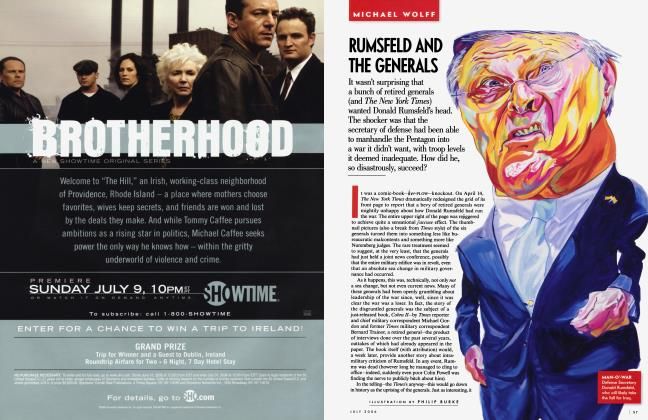 Article Preview: RUMSFELD AND THE GENERALS, July 2006 2006 | Vanity Fair