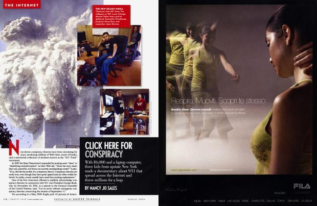 Article Preview: CLICK HERE FOR CONSPIRACY, August 2006 | Vanity Fair