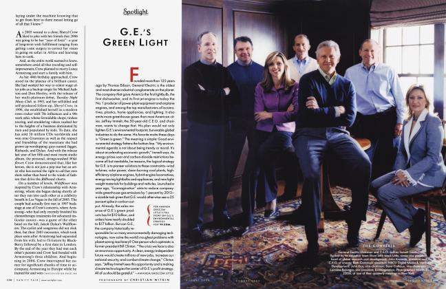 Article Preview: G.E.'S GREEN LIGHT, August 2006 2006 | Vanity Fair