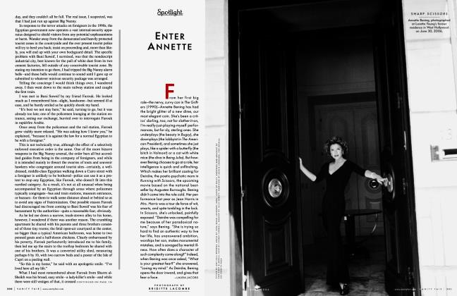 Article Preview: ENTER ANNETTE, October 2006 2006 | Vanity Fair