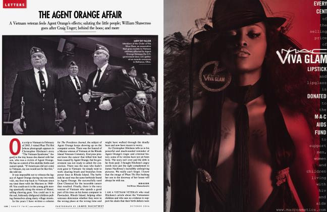 Article Preview: THE AGENT ORANGE AFFAIR, October 2006 2006 | Vanity Fair