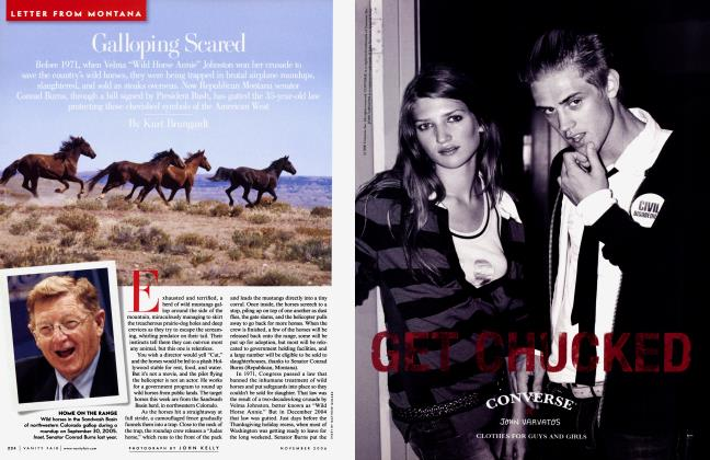 Article Preview: Galloping Scared, November 2006 | Vanity Fair