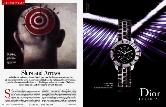 Article Preview: Slurs and Arrows, November 2006 2006 | Vanity Fair