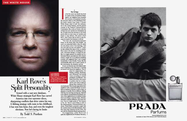 Article Preview: Karl Rove's Split Personality, December 2006 | Vanity Fair