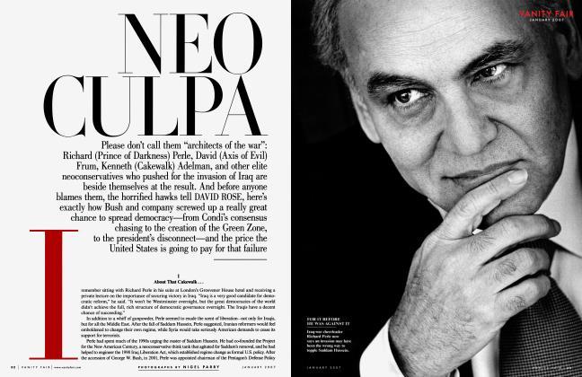 Article Preview: NEO CULPA, January 2007 | Vanity Fair