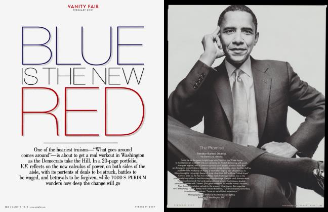 Article Preview: BLUE IS THE NEW RED, February 2007 2007 | Vanity Fair
