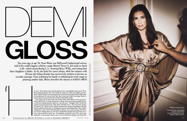 Article Preview: DEMI GLOSS, February 2007 | Vanity Fair