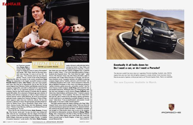 Article Preview: PRIVATE LIVES TREVOR and ALEXIS TRAINA, March 2007 2007 | Vanity Fair