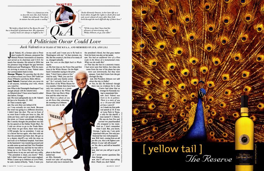 Q & A A Politician Oscar Could Love