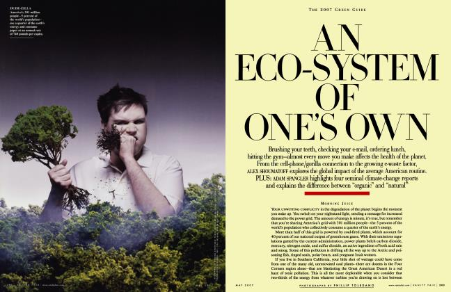 Article Preview: THE 2007 GREEN GUIDE AN ECO-SYSTEM OF ONE'S OWN, May 2007 2007 | Vanity Fair