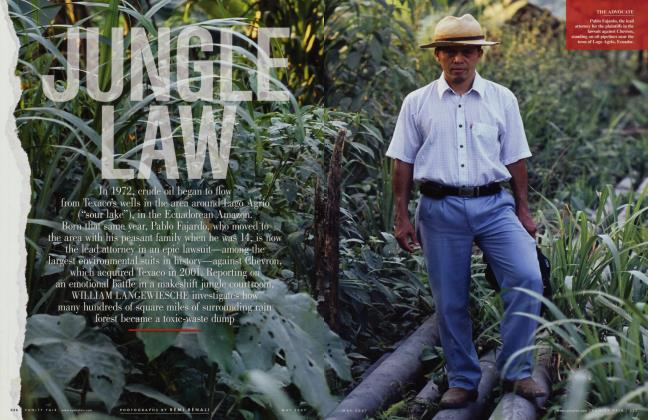 Article Preview: JUNGLE LAW, May 2007 2007 | Vanity Fair