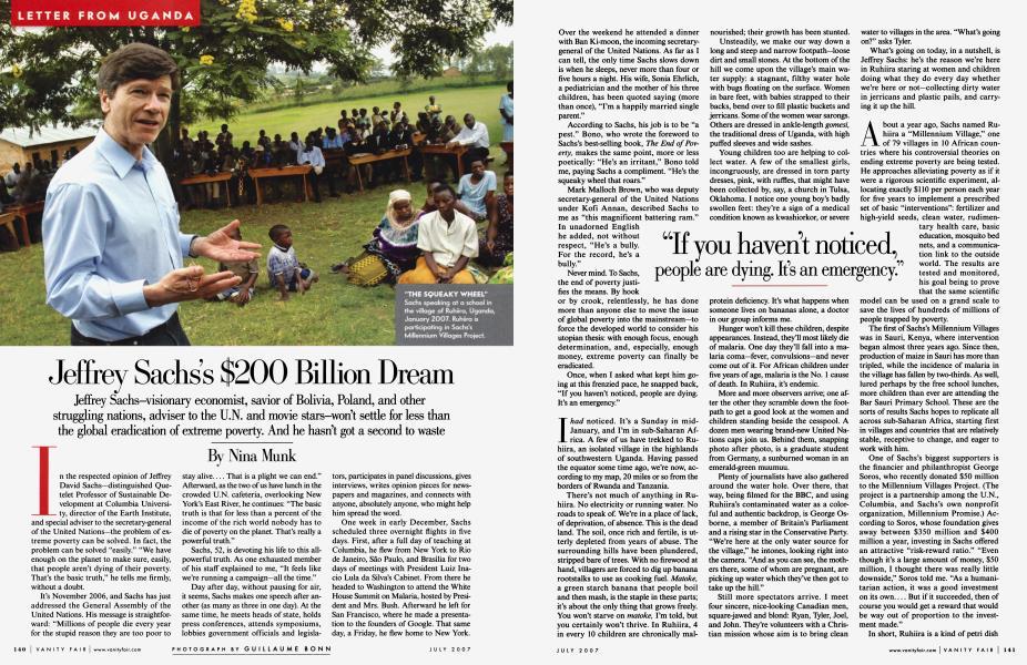 Jeffrey Sachs's $200 Billion Dream