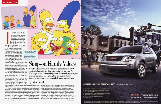 Article Preview: Simpson Family Values, August 2007 | Vanity Fair
