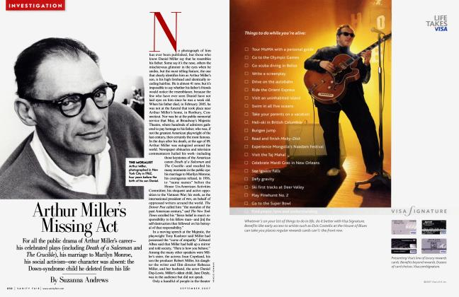 Article Preview: Arthur Miller's Missing Act, September 2007 | Vanity Fair