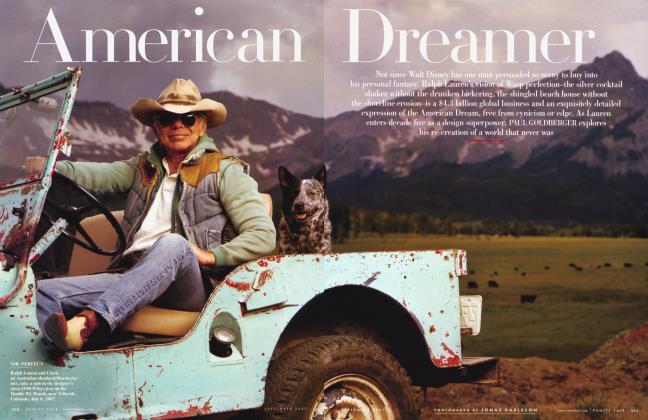 Article Preview: American Dreamer, September 2007 2007 | Vanity Fair