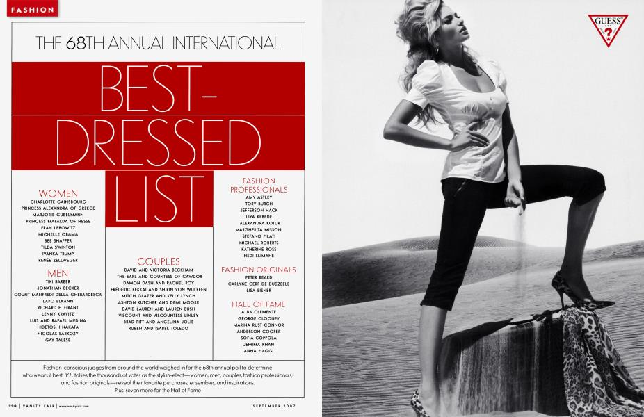 THE 68TH ANNUAL INTERNATIONAL BEST-DRESSED LIST