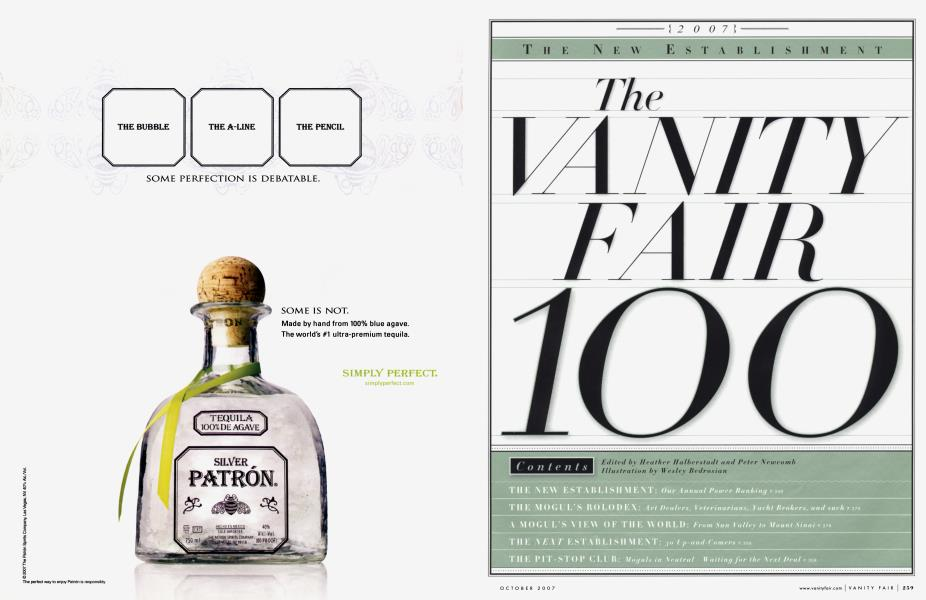 THE NEW ESTABLISHMENT VANITY FAIR 100