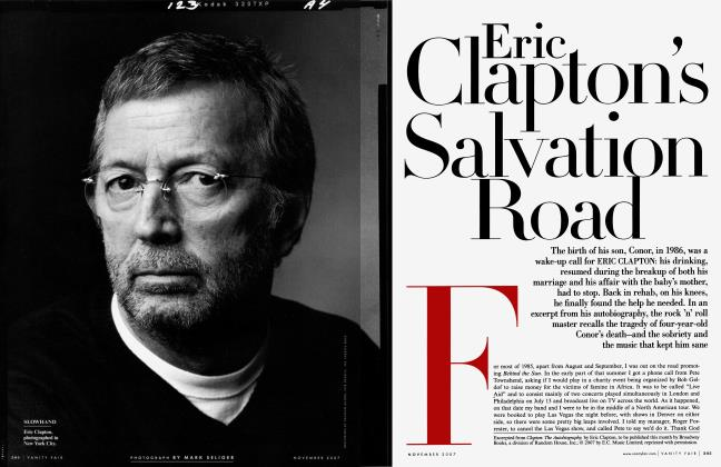 Article Preview: Eric Clapton's Salvation Road, November 2007 | Vanity Fair