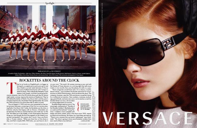 Article Preview: ROCKETTES AROUND THE CLOCK, December 2007 2007 | Vanity Fair