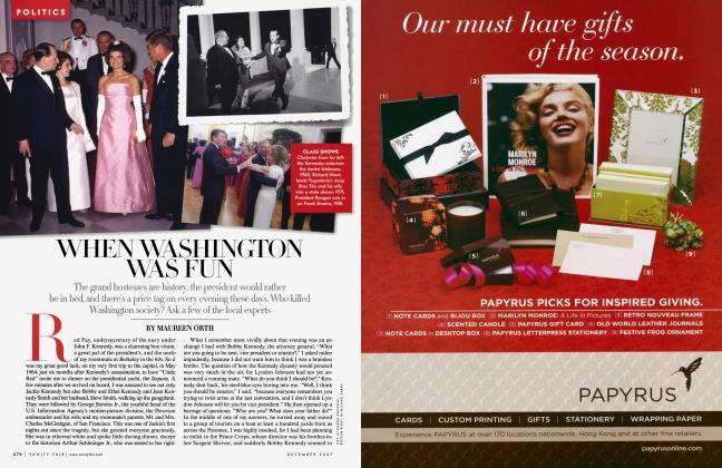 Article Preview: WHEN WASHINGTON WAS FUN, December 2007 | Vanity Fair