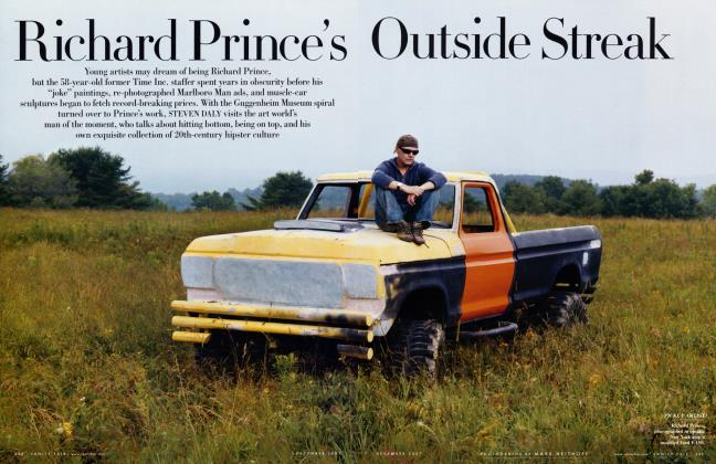 Article Preview: Richard Prince's Outside Streak, December 2007 2007 | Vanity Fair