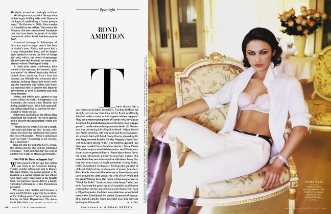 Article Preview: BOND AMBITION, April 2008 2008 | Vanity Fair