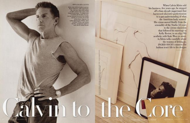Article Preview: Calvin to the Core, April 2008 | Vanity Fair