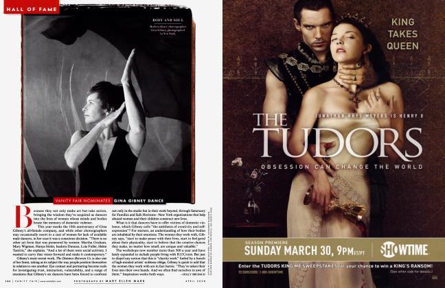 Article Preview: VANITY FAIR NOMINATES GINA GIBNEY DANCE, April 2008 2008 | Vanity Fair
