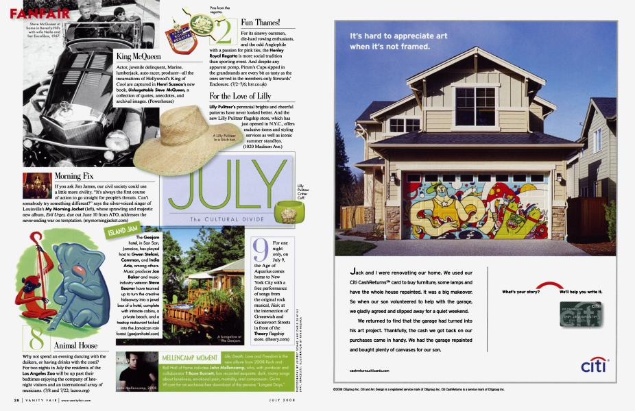 JULY The CULTURAL DIVIDE