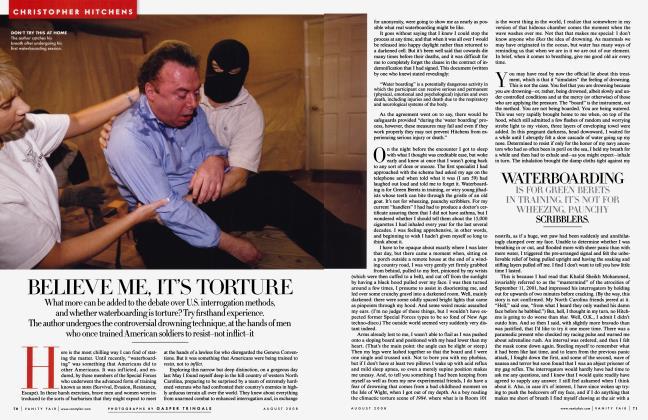 Article Preview: BELIEVE ME, IT'S TORTURE, August 2008 2008 | Vanity Fair