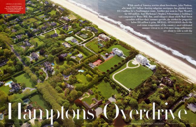 Article Preview: Hamptons Overdrive, August 2008 2008 | Vanity Fair