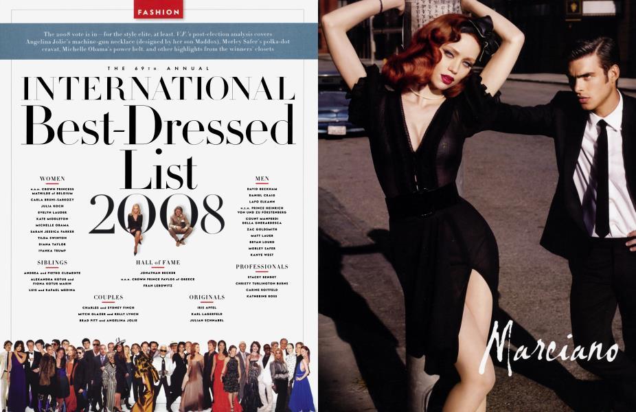 THE 69TH ANNUAL INTERNATIONAL Best-Dressed List 2008