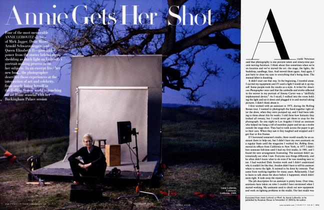 Article Preview: Annie Gets Her Shot, October 2008 2008 | Vanity Fair