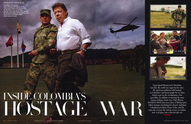 Article Preview: INSIDE COLOMBIA'S HOSTAGE WAR, November 2008 | Vanity Fair