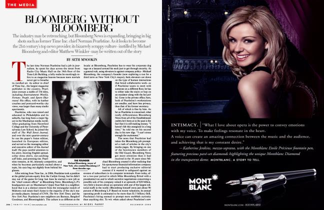 Article Preview: BLOOMBERG WITHOUT BLOOMBERG, December 2008 | Vanity Fair