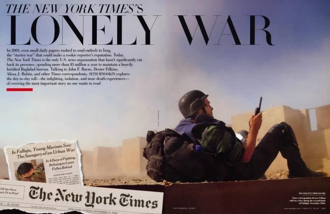Article Preview: THE NEW YORK TIMES'S LONELY WAR, December 2008 | Vanity Fair