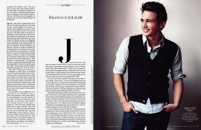 Article Preview: FRANCO CUM LAUDE, December 2008 2008 | Vanity Fair