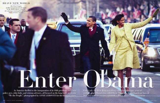 Article Preview: Enter Obama, March 2009 2009 | Vanity Fair