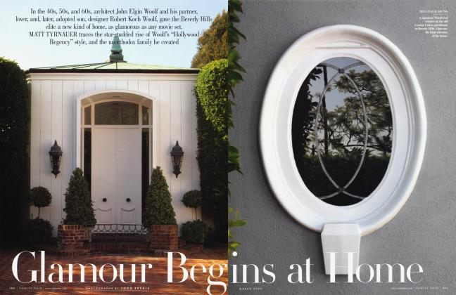 Article Preview: Glamour Begins at Home, March 2009 | Vanity Fair
