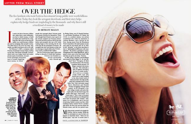 Article Preview: OVER THE HEDGE, April 2009 | Vanity Fair