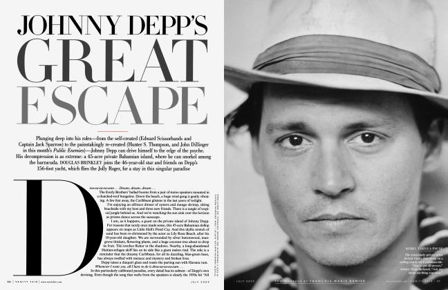 Article Preview: JOHNNY DEPP'S GREAT ESCAPE, July 2009 | Vanity Fair