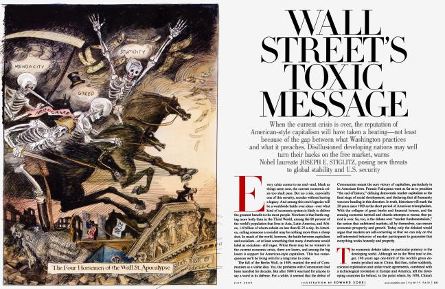 Article Preview: WALL STREET'S TOXIC MESSAGE, July 2009 2009 | Vanity Fair