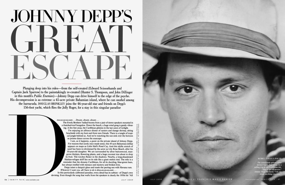 JOHNNY DEPP'S GREAT ESCAPE