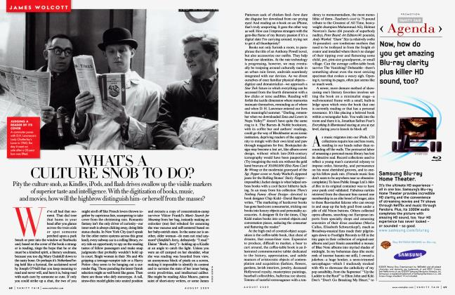Article Preview: WHAT'S A CULTURE SNOB TO DO?, August 2009 2009 | Vanity Fair