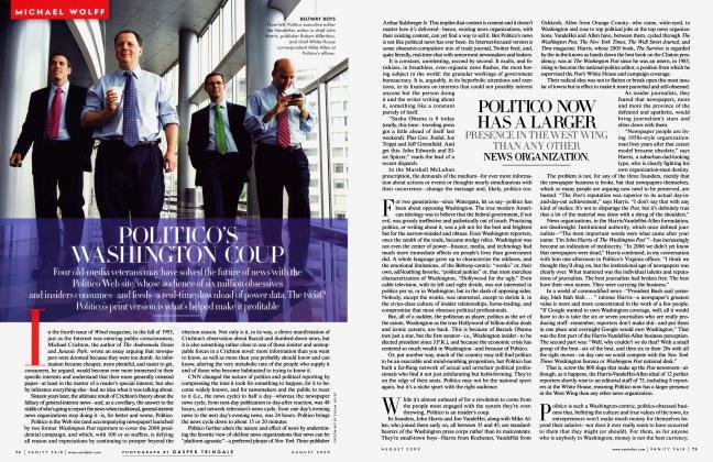 Article Preview: POLITICO'S WASHINGTON COUP, August 2009 2009 | Vanity Fair