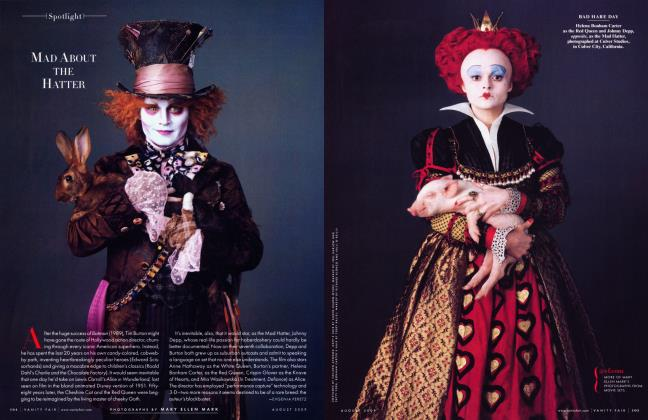 Article Preview: MAD ABOUT THE HATTER, August 2009 2009 | Vanity Fair