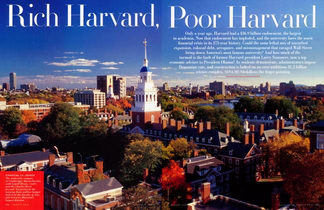 Article Preview: Rich Harvard, Poor Harvard, August 2009 2009 | Vanity Fair
