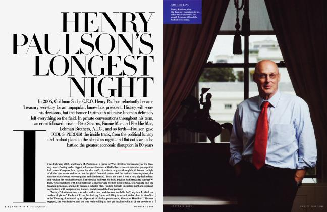 Article Preview: HENRY PAULSON'S LONGEST NIGHT, October 2009 | Vanity Fair