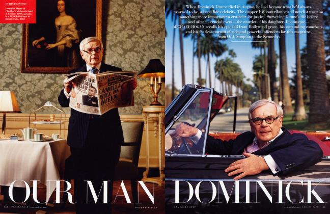 Article Preview: OUR MAN DOMINICK, November 2009 | Vanity Fair