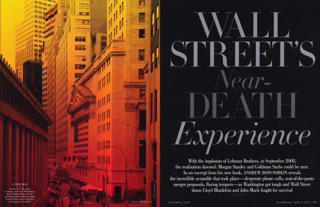 Article Preview: WALL STREET'S Near - DEATH Experience, November 2009 | Vanity Fair